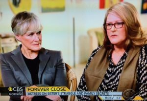 Glen Close and sister on Resilience book/CBSNews.com