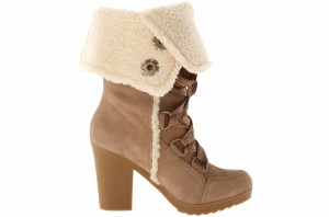 Nine West suede faux shearling boots at zappos.com