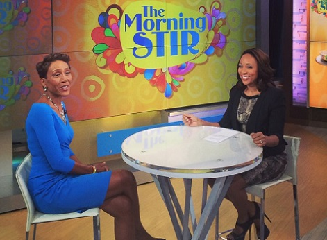 Mara Schiavocampo and Robin Roberts on GMA/Photo: ABC News