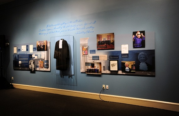 Display items at Sandra Day O'Connor exhibit/McClelland Hall Phoenix/Photo: Cowgirl Museum and hall of Fame