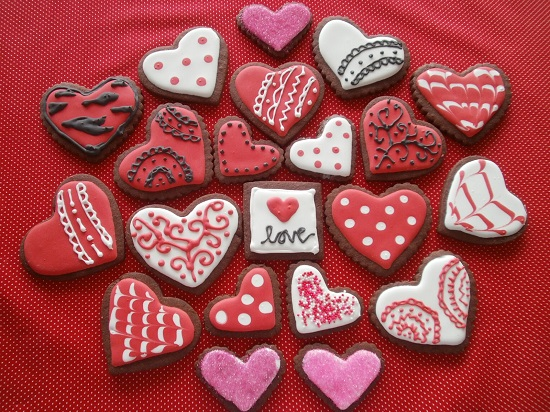 Valentines Red Cut Out Cookies