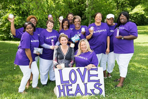 Rev. Becca Stevens and staff of Thistle Farms/Credit: Thistle Farms