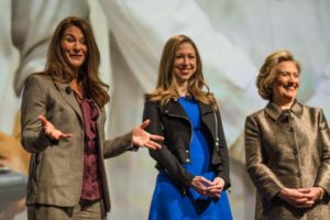 Melinda Gates Chelsea and Hillary Clinton at the No Ceilings Launch Event/Photo; Clinton Foundation