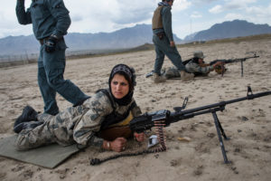 Lynsey Addario photo on Afghan Policewomen/New York Times