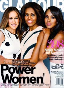 Michelle Obama, Sarah Jessica Parker, Kerry Washington on Glamour Cover