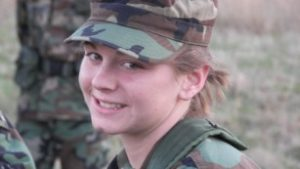 Ashley White at Kent State ROTC/suject of Gayle Lemmon book, Ashley's War