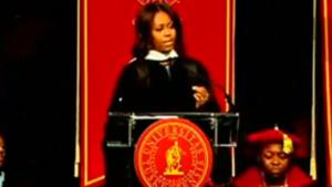 Michelle Obama at Tuskegee University-May 2015/Photo: YouTube Screenshot