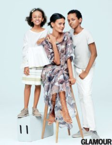 Moms Day with Liya Kebede/yahoo.com/beauty--Photo: Glamour