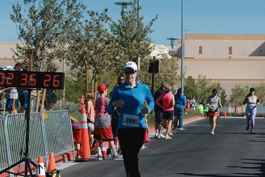 Stacey Gualandi runs half marathon in Las Vegas