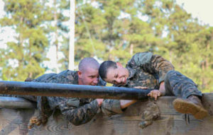 Army soldiers at Ft. Benning, Ga on obstacle course/Photo: Antonio Lewis/U.S. Army