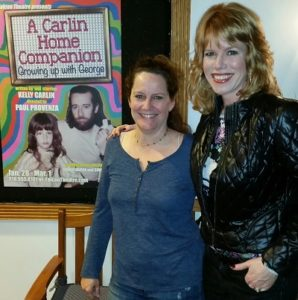 Kelly Carlin and Stacey Gualandi at Kelly's one woman show/2015