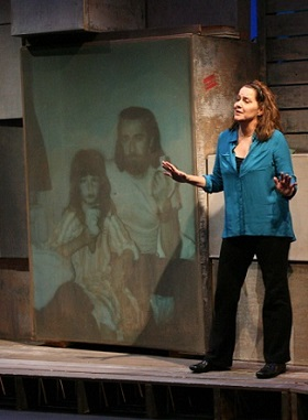 Kelly Carlin on stage