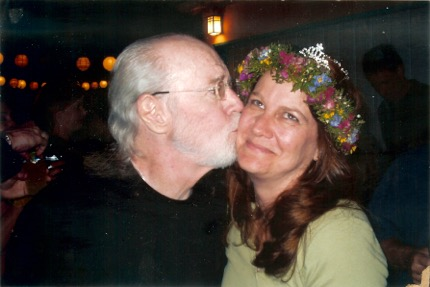 Kelly Carlin and her dad George