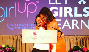 Students lead at Girl Up FOundation Leadership Summit in DC 7/15 with Michelle Obama/Photo: wellesley.edu