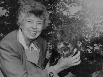 Eleanor Roosevelt with Fala/1951/Photo: National Archives, Wikipedia