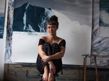 Zaria Forman, pastel drawer/Photo: Zaria Forman