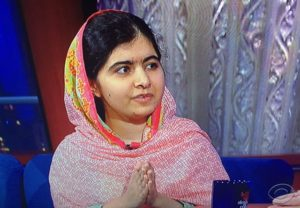 Malala Yousafzai on Stephen Colbert Show/Photo: Screenshot