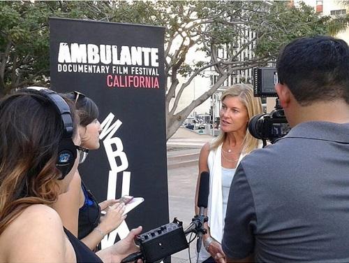 Robin Hauser Reynolds speaking at Ambulante Film Festival/Ambulante on Facebook