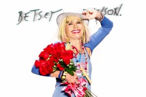 Betsey Johnson on runway at NYFW Show/Photo: BFA