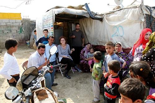 Barbara Massaad at Bekaa Refugee camp/Photo: Barbara Massaad