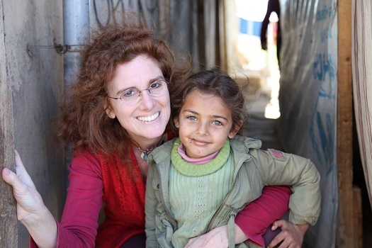 Barbara Massaad, author Soup for Syria at refugee camp Bekaa Valley