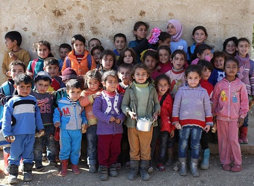 Children from the Bekaa Syrian Camp/Photo: Barbara Massaad