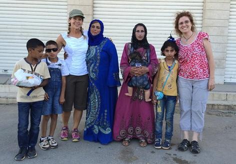 Beth Howard meets Barbara Massaad, author Soup for Syria, in Lebanon/Photo: Beth Howard