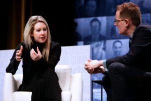 Elizabeth Holmes, founder of Theranos talks aboutTheranos at Forbes Under 30 Summit/Photo: Glenn Davis