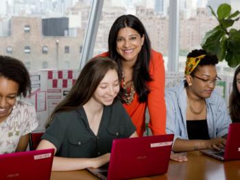 Reshma Saujani and Girls Who Code/screenshot on forbes.com