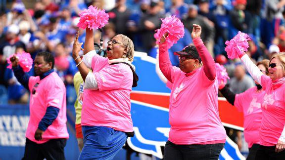 Buffalo Bills honor Breast Cancer Survivors at Game Oct. 4/2015/Photo @espn