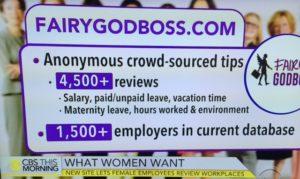 fairygodboss.com on CBS This Morning graphic/Screenshot CBS