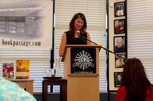 Paula McLain; speaking at Book Passage, Aug. 2015/Photo: Pam Burke