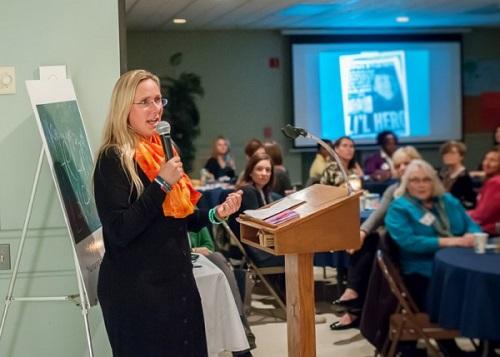 """Scarlett Lewis, author """"Nurturing Healing Love"""" speaking at H3) Women's Ministry Event"""