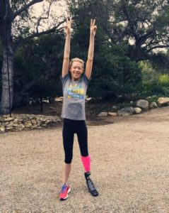 Boston Marathon Bombing Survivor Adrianne Haslet-Davis training in Ojai 1/24/16/Photo: Instagram
