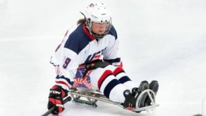Christy Gardner/sled hockey team/Photo: Christy Gardner