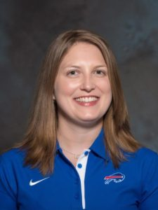 Kathryn Smith/NFL's first female full-time asst. coach/Photo: Buffalo Bills