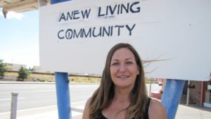 Lori Barlow, founder of ANEW Living Community for the rural homeless in Flagstaff/Photo: Lauren Morales/KJZZ