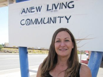 Lori Barlow, founder of ANEW Living Community for the rural homeless in Flagstaff/Photo: Laurel Morales/KJZZ