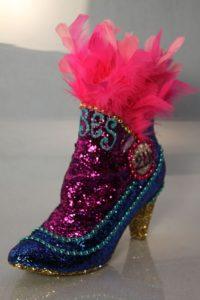 Mardi Gras shoe by Freda Maletsky/Image Courtesy Freda Maletsky