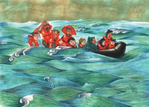 Painting of Syrian Children by Diala Brisly/BBC