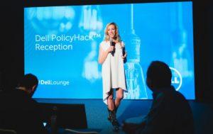 Elizabeth Gore, Dell exec, speaking at SXSW/Photo from Pinterest