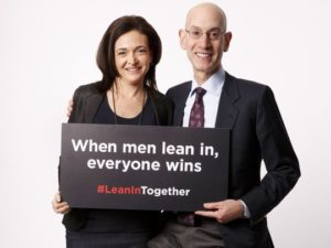 Sheryl Sandberg and Adam Silver, NBA/usatoday.com