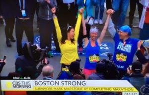 Adriane Haslet runs Marathon/VIDEO CBS News