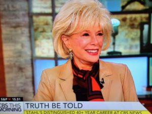 Leslie Stahl, CBS Corresspondent/Photo: Screenshot CBS