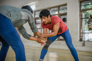 Neetu, prize-winning wrestler/Photo: P. Basu for NPR