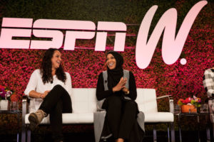 Maggie Steffens inspiring words for younger athletes at espnW, Women & Sports Event