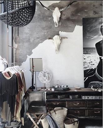 Interior Linda Hamilton Nomad Chic boutique