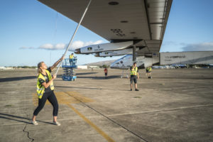 Paige Kassalen with Solar Impulse 2/Forbes.com