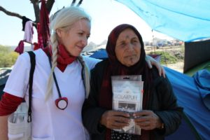 Alison Thompson and Syrian Refugee/Photo: C.hris Morrow/Forbes