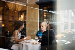 Barbara Bush, Cecile Richards at lunch Gotham Bar/Photo: NY TImes